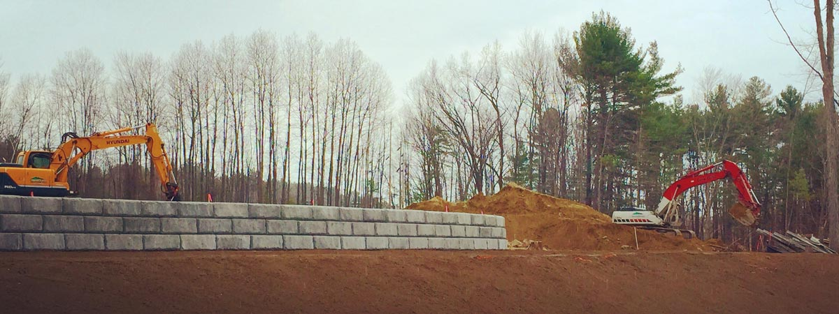 Retaining Wall Construction - Leighton A. White, Inc., Milford, NH